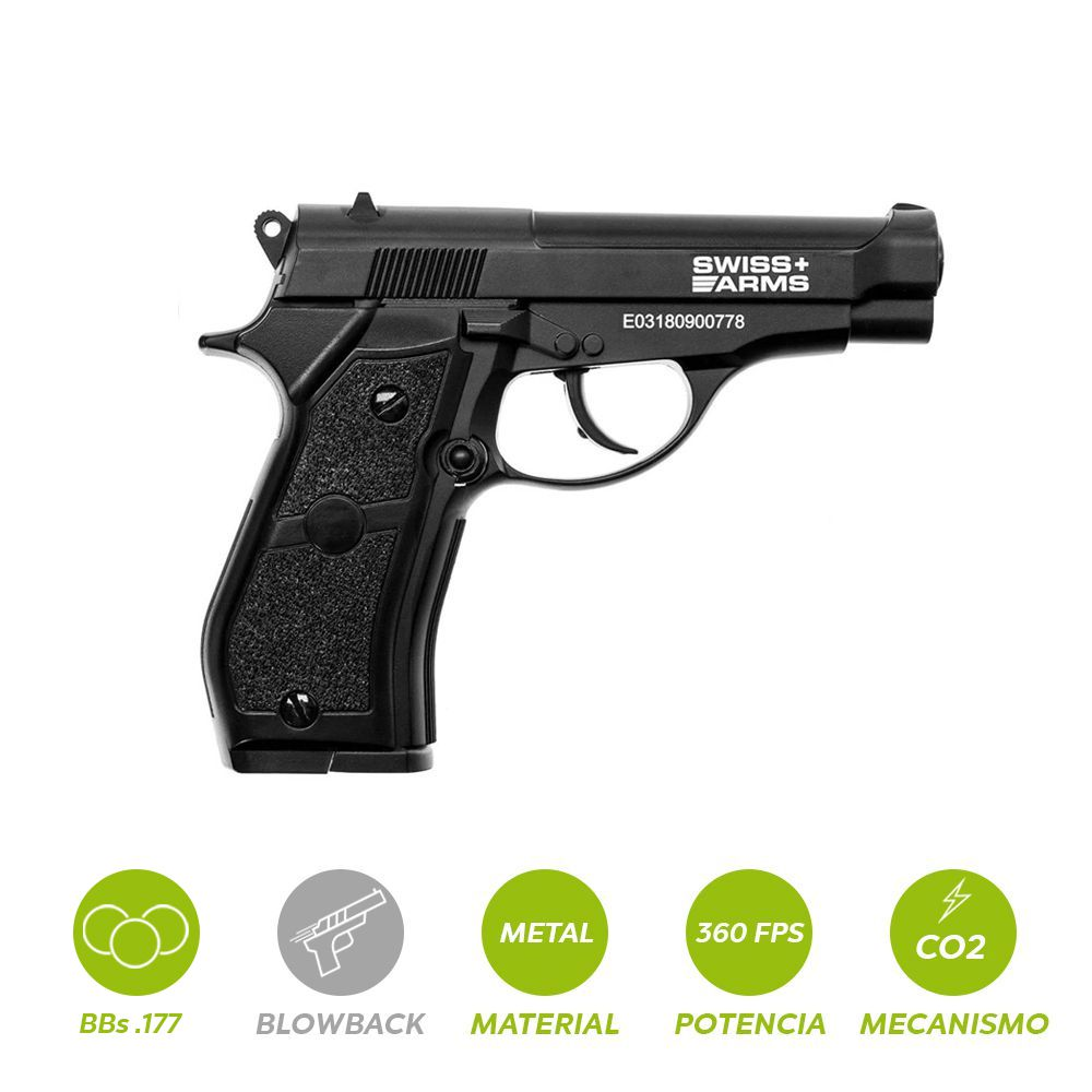 PISTOLA CO2 SWISS ARMS P84 .177 28877