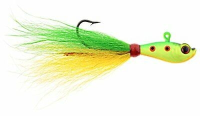 HURRICANE PLUMERO 3D EYE BUCKTAIL YELLOW 1/4 2PK