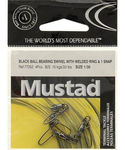 SNAP SWIVEL MUSTAD BB SZ1 4PK